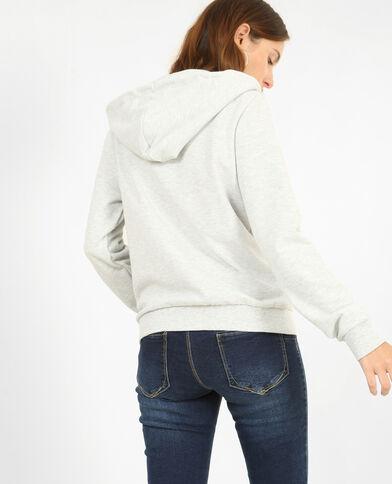 Sweater met rits parelgrijs