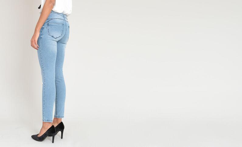 Push-up jeans blauw