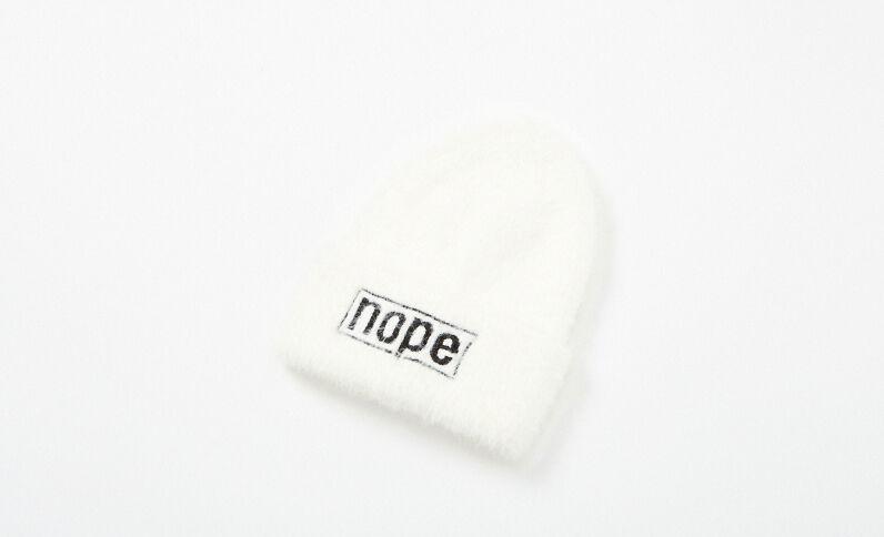 Bonnet à message blanc