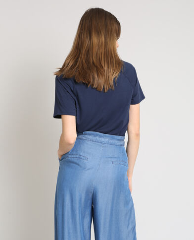 T-shirt à pressions bleu marine