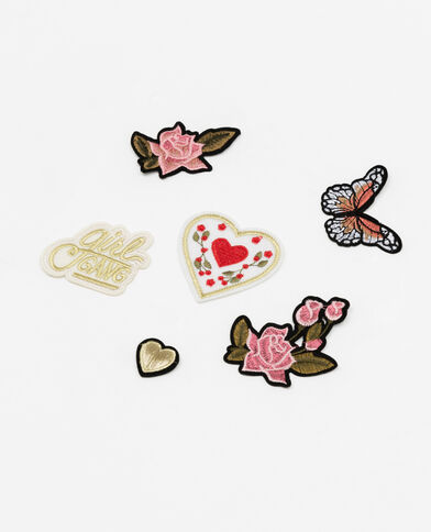 Set met 6 thermoklevende patches wit
