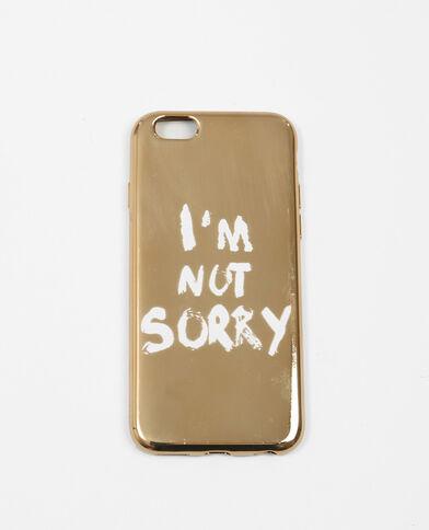 Coque à message compatible iPhone doré