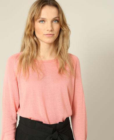 Lichte basic trui roze