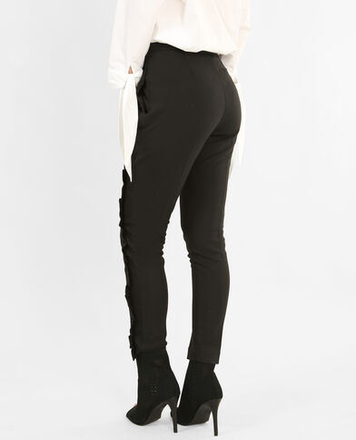 Pantalon à volants noir