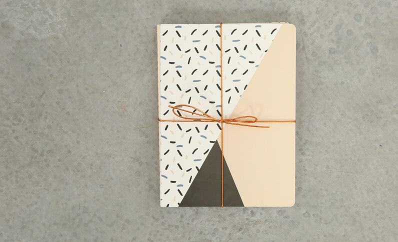 Set van 3 notebooks roze