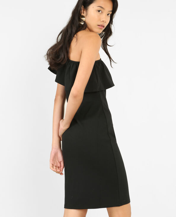 Robe bodycon one shoulder noir