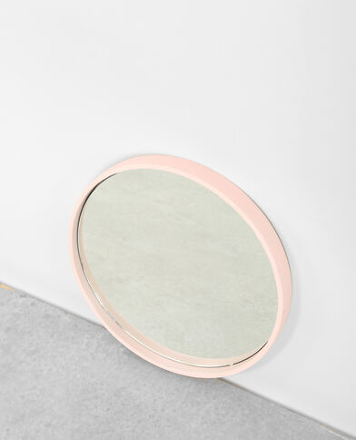 Grote ronde spiegel Roze
