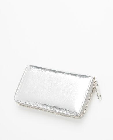Metallic portefeuilletasje grijs