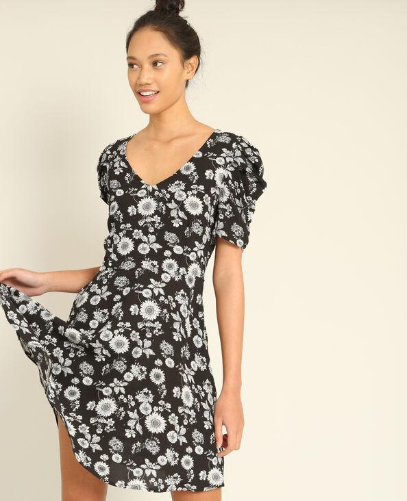 Soepelvallende jurk zwart