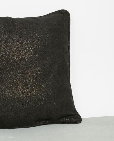 Housse de coussin pailletée noir