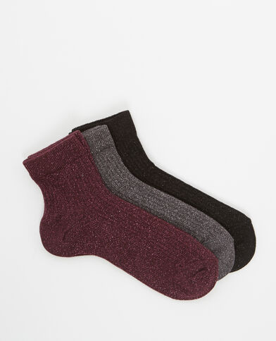 Set van 3 paar sokken roze