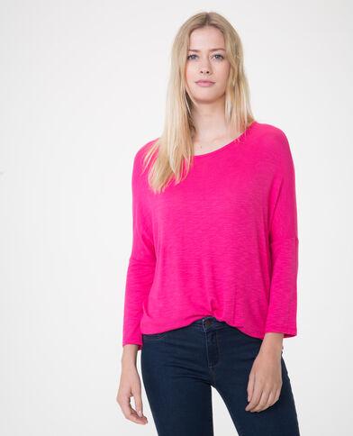 T-shirt met vleermuismouwen roze