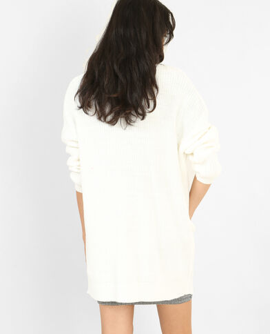 Lange blazer met zakken wit