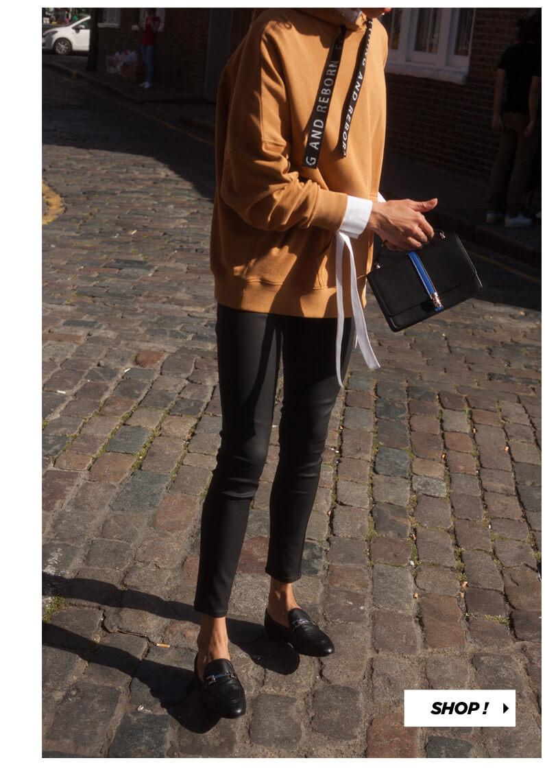 PIMKIE Long sweat à capuche, Pantalon en simili cuir