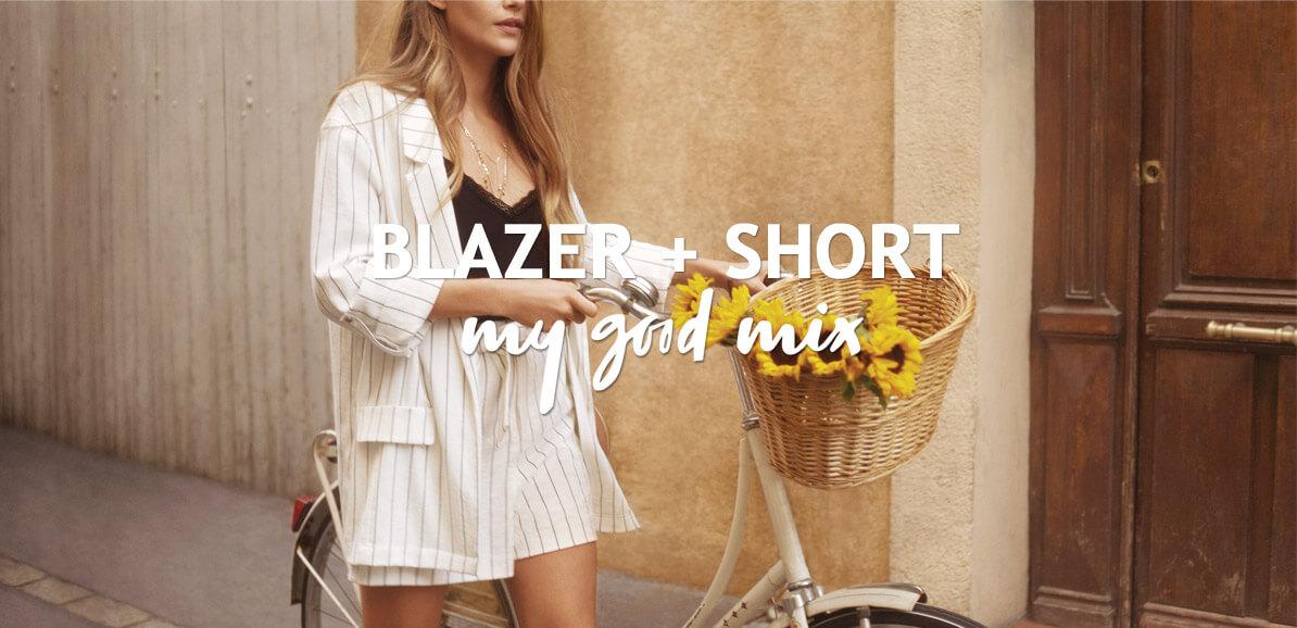 Blazer + short My good mix