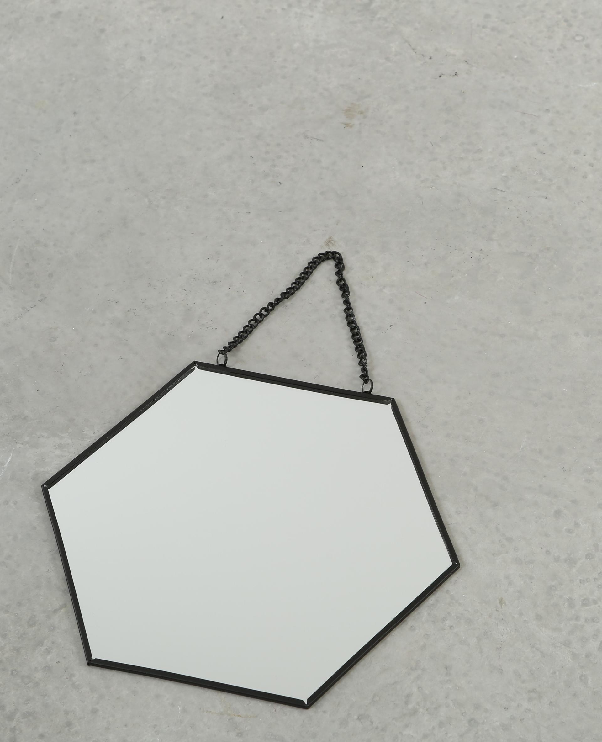 Petit miroir hexagonal noir 975083899a4g pimkie for Petit miroir noir
