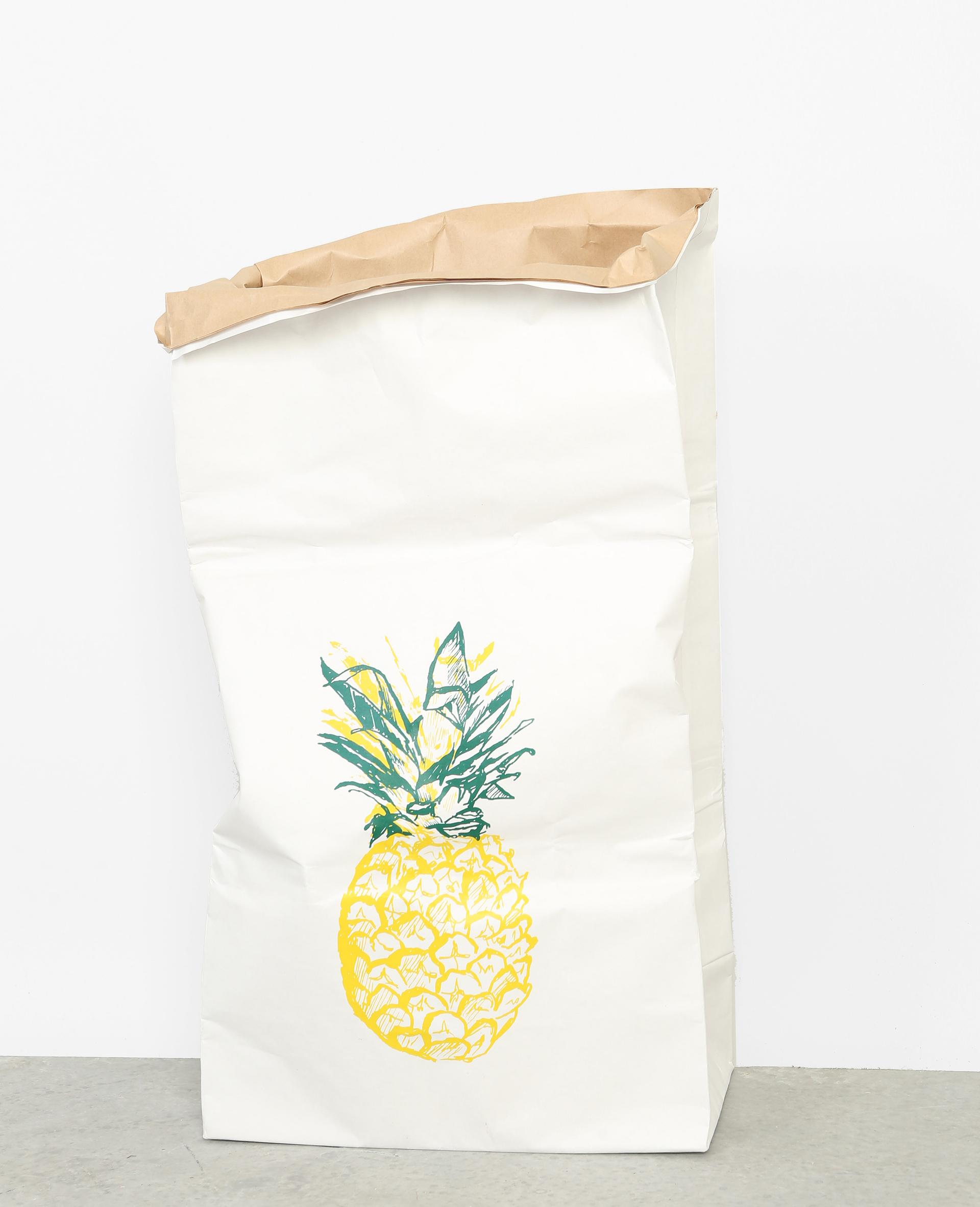 Grote Papieren Tas : Grote papieren tas met ananasprint gebroken wit