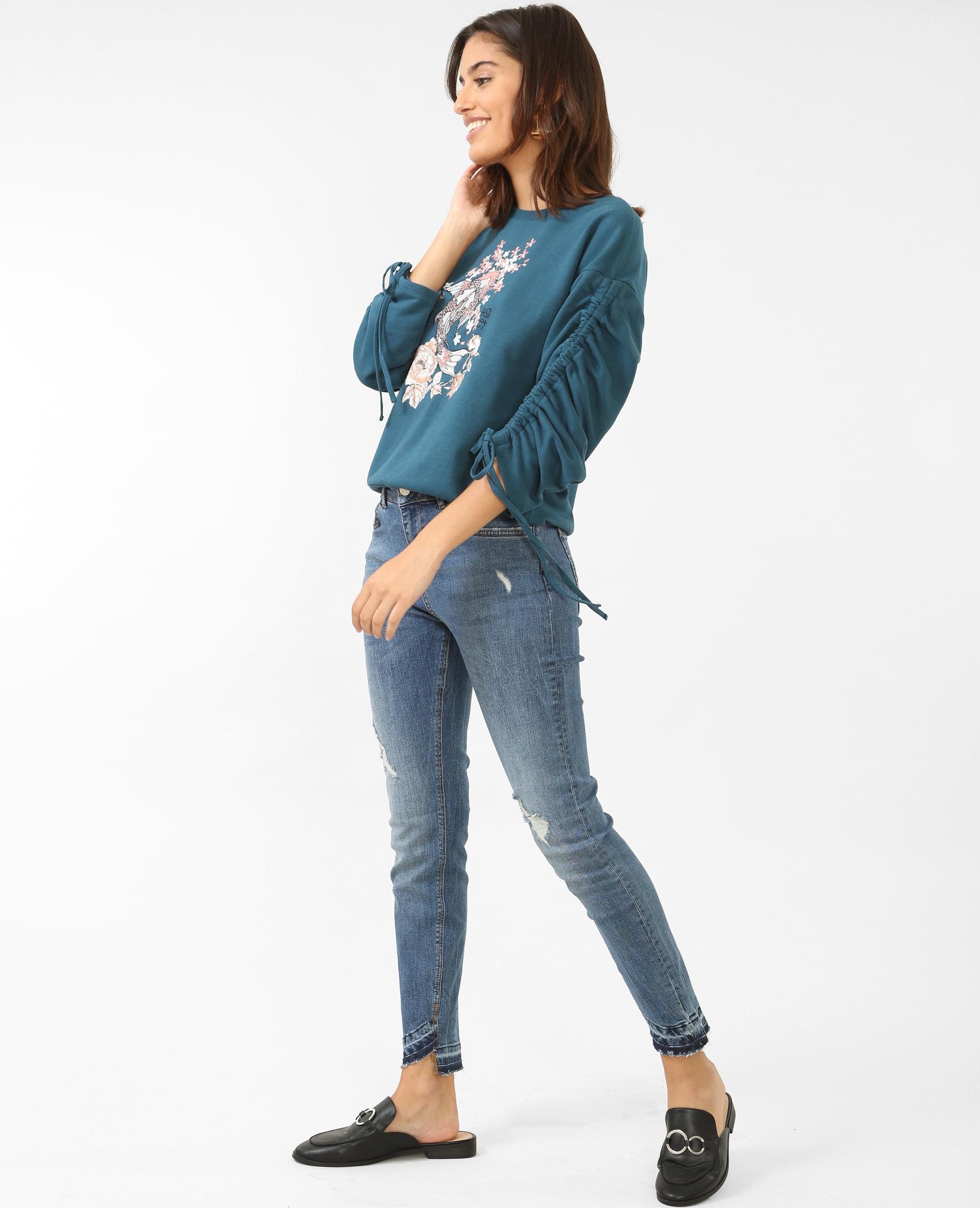jean skinny taille moyenne bleu 140384684a06 pimkie. Black Bedroom Furniture Sets. Home Design Ideas