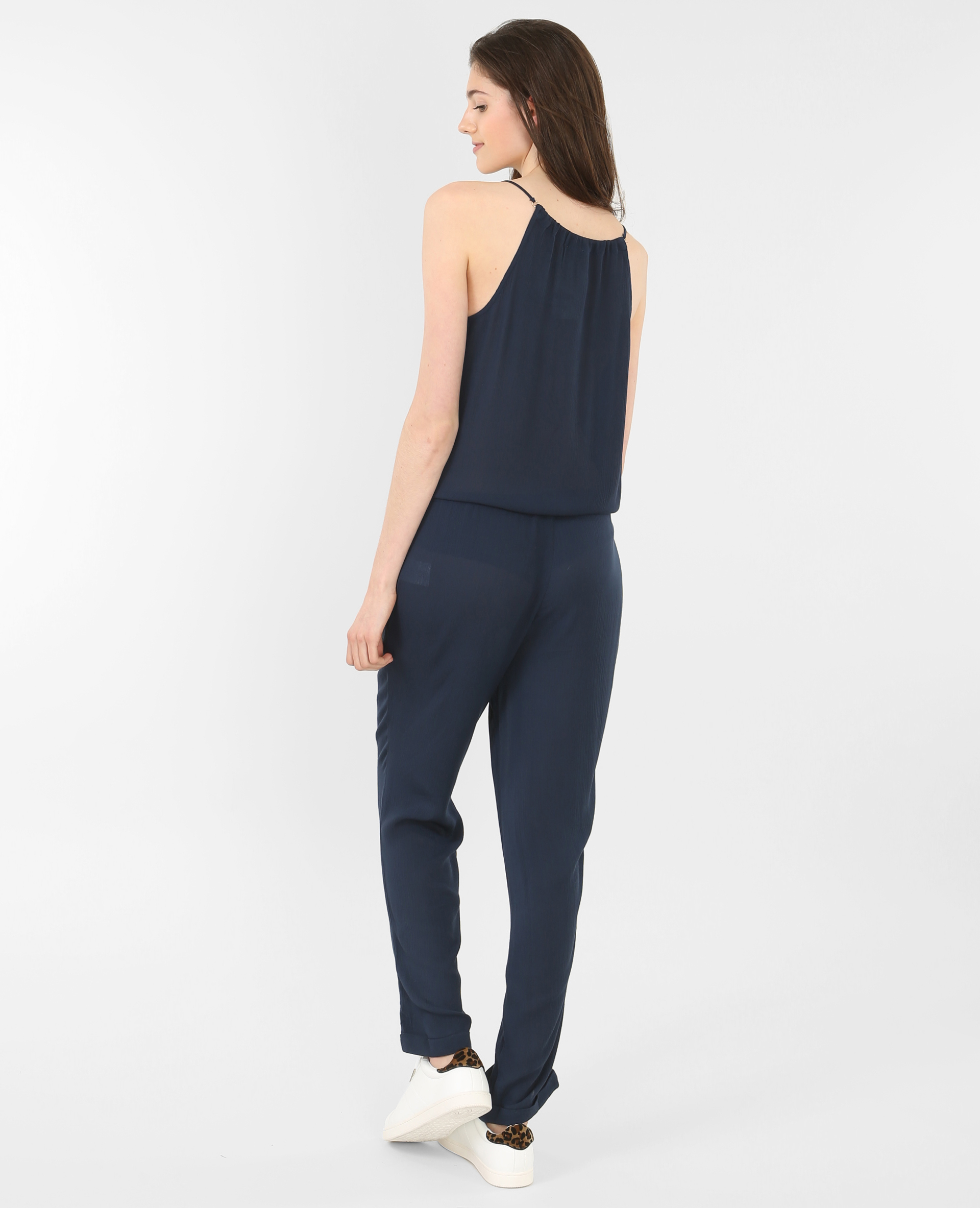 Combi pantalon fluide bleu marine 151105635a06 pimkie - Combi pantalon bleu marine ...