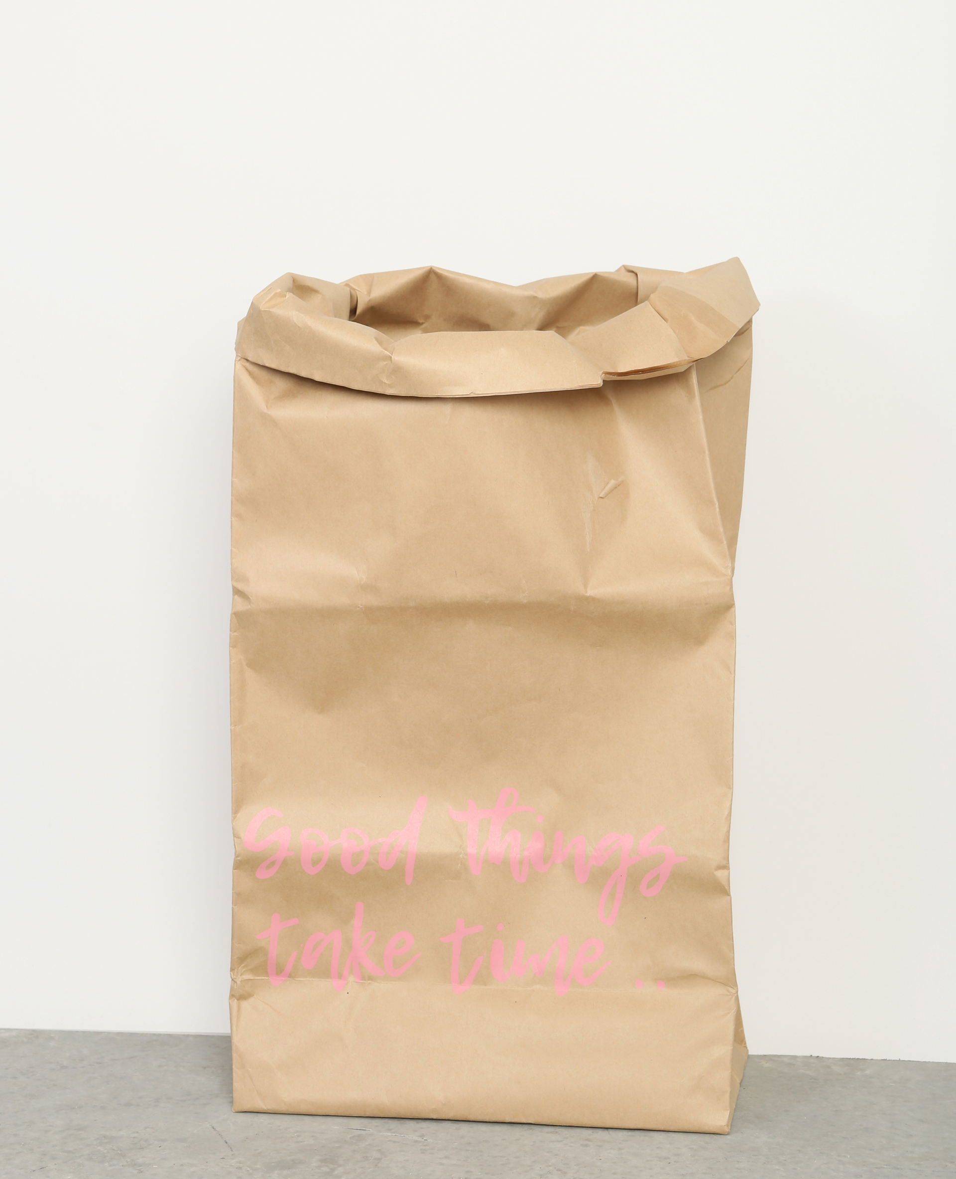 Grote Papieren Tas : Grote papieren tas met opschrift bruin a pimkie