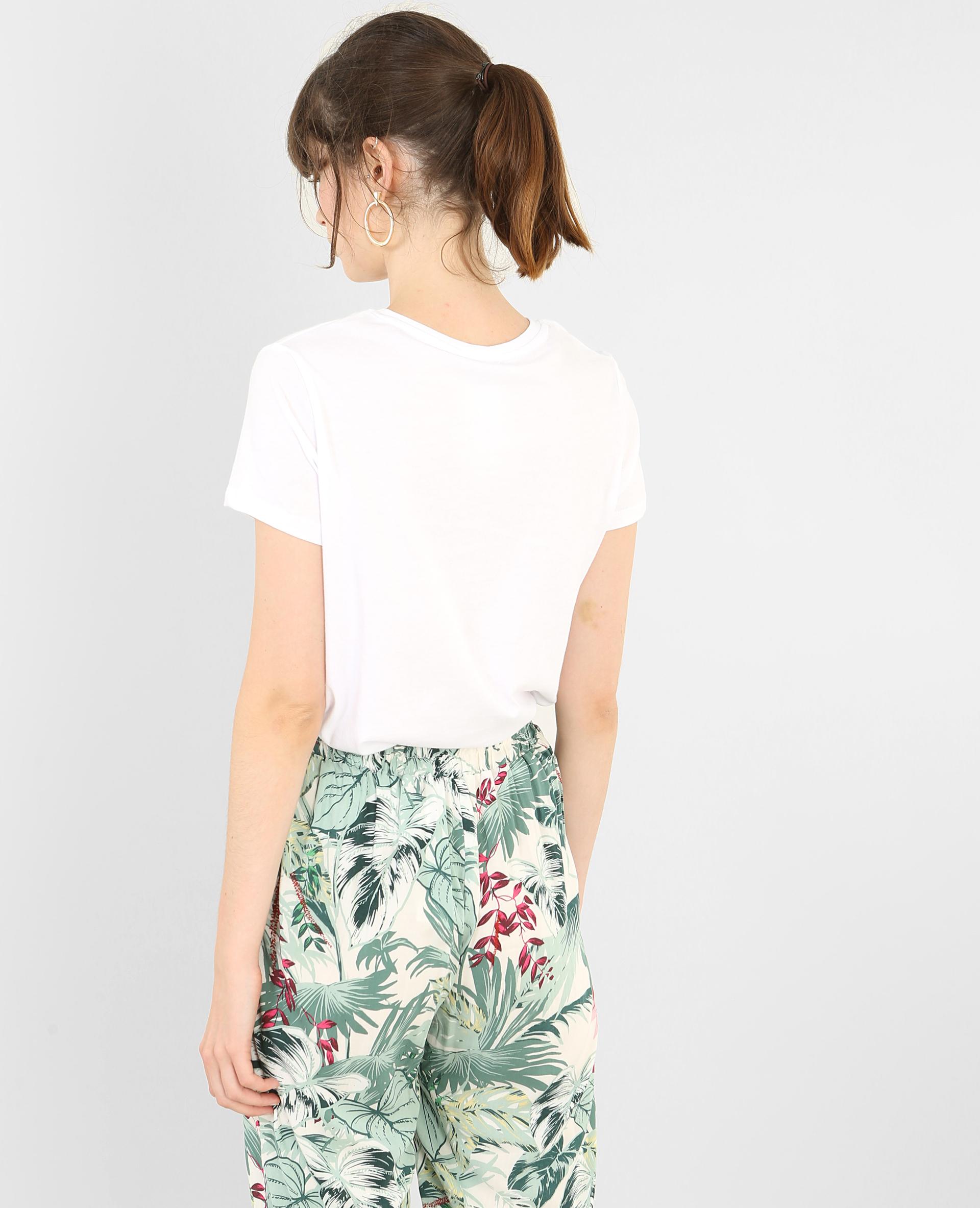 t shirt flamant rose blanc 403771905h42 pimkie. Black Bedroom Furniture Sets. Home Design Ideas