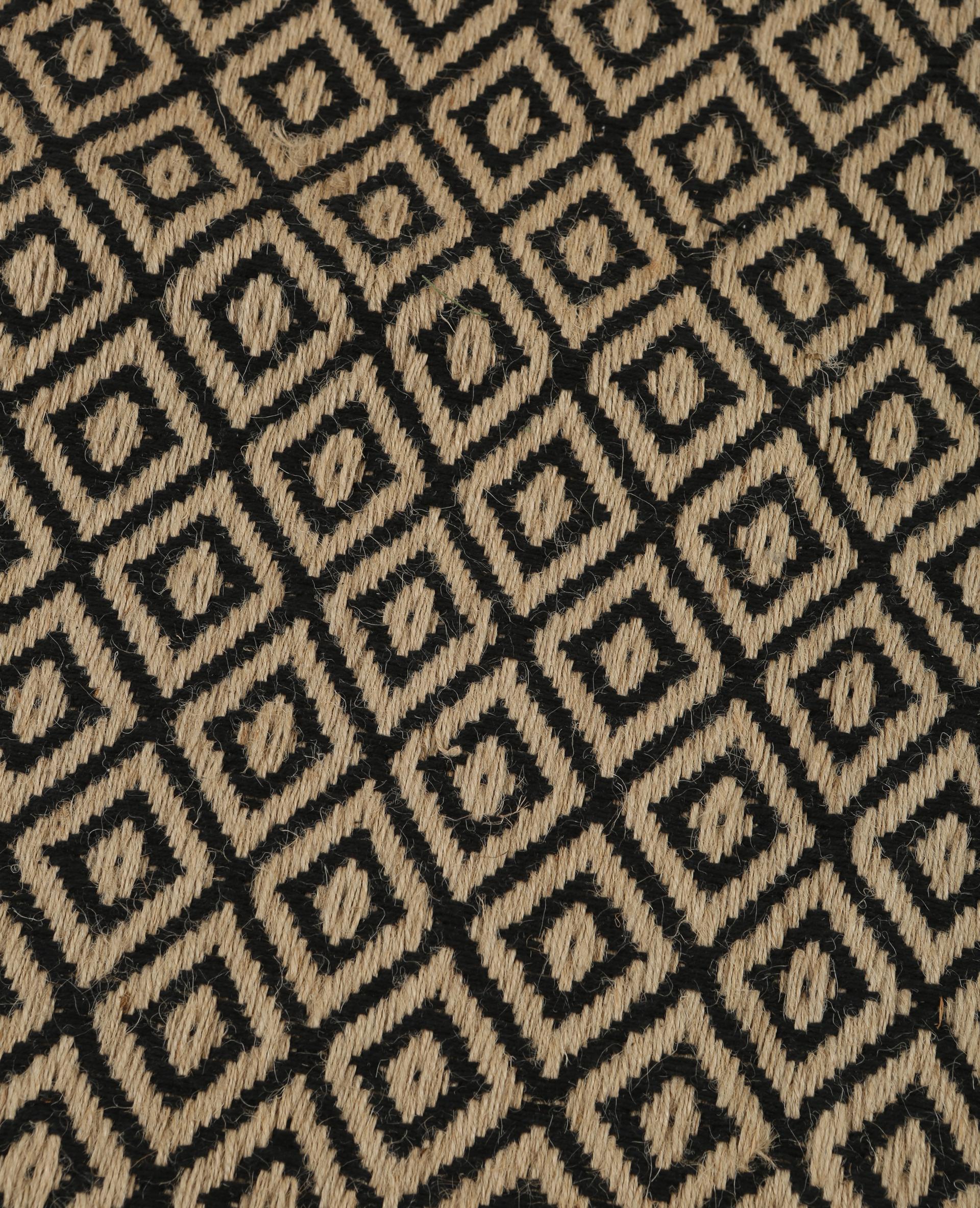 tapis en jute noir 902886899c07 pimkie. Black Bedroom Furniture Sets. Home Design Ideas