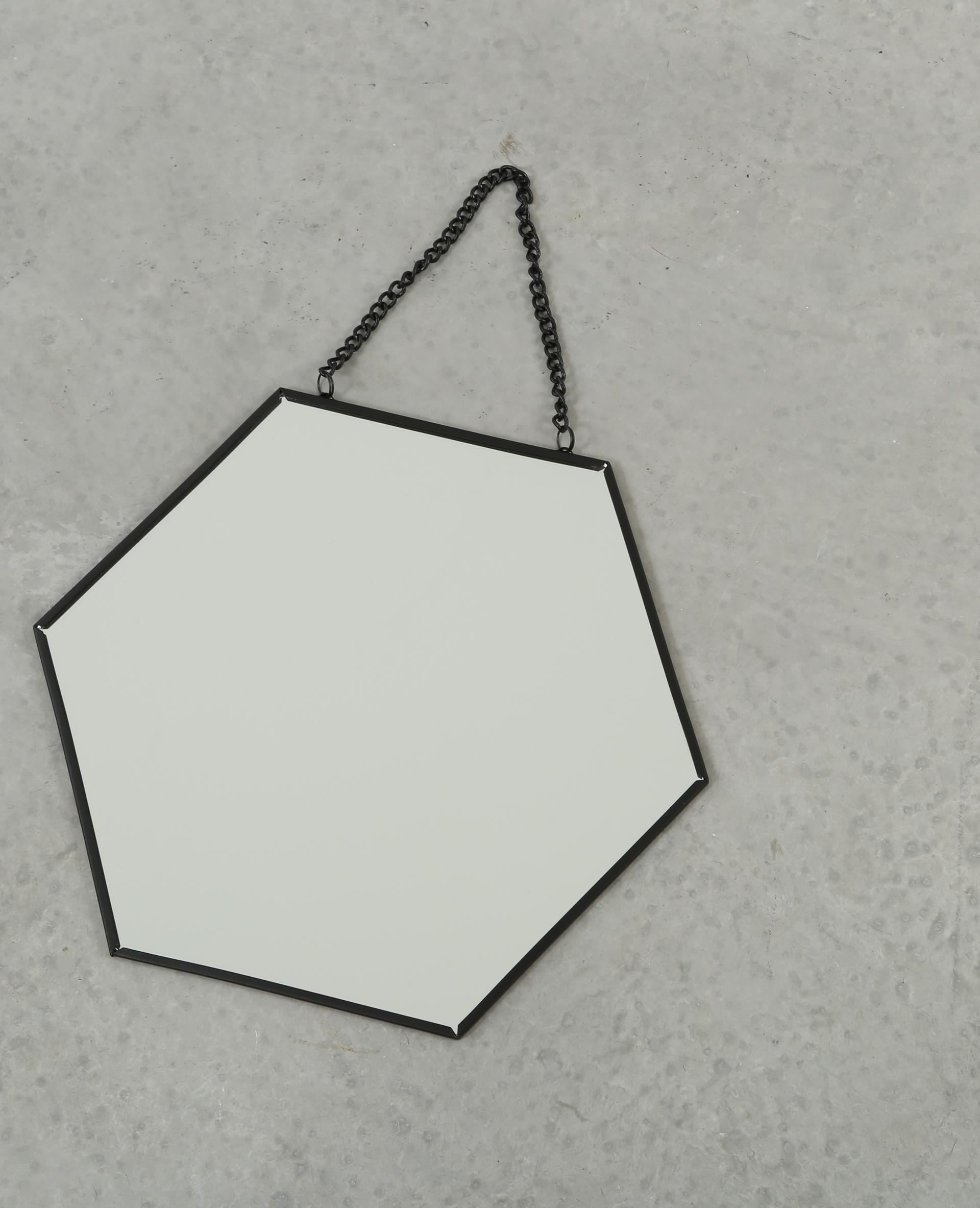 petit miroir hexagonal noir 975083899a4g pimkie. Black Bedroom Furniture Sets. Home Design Ideas