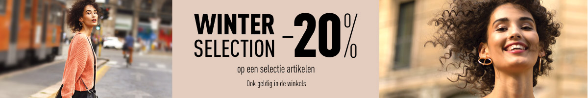 WINTER SELECTION : -20%* op een selectie artikelen