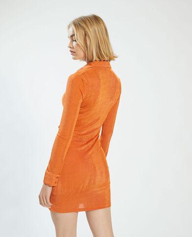 Jurk met fronsjes oranje - Pimkie