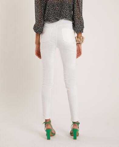 Skinny jeans met hoge taille wit - Pimkie