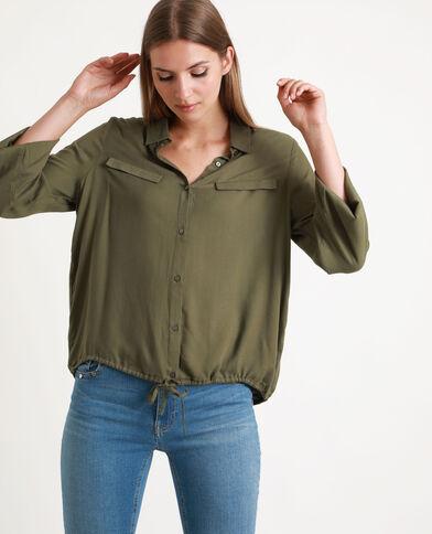 Soepelvallende blouse groen