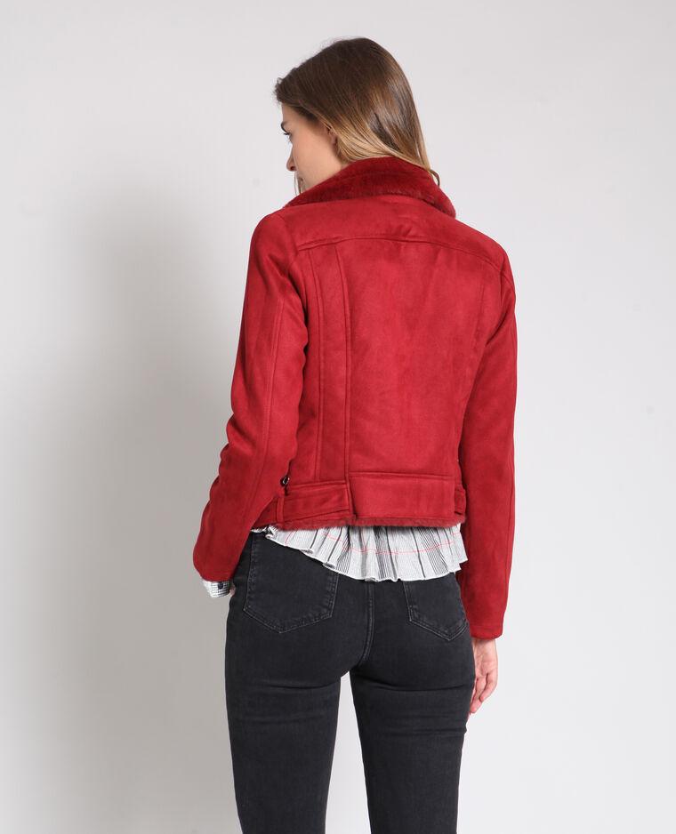 9dabc1b20805 Veste perfecto suédine rouge  Veste perfecto suédine rouge