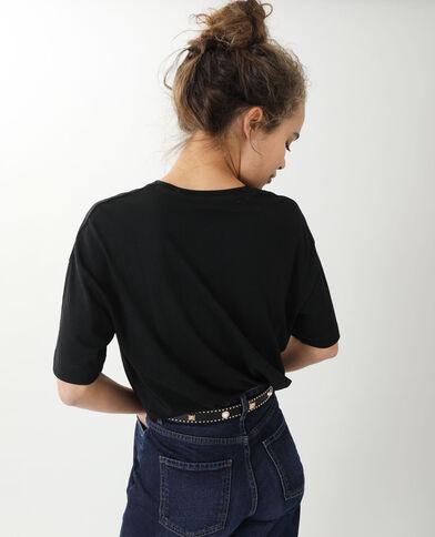 Oversized T-shirt met korte mouwen zwart