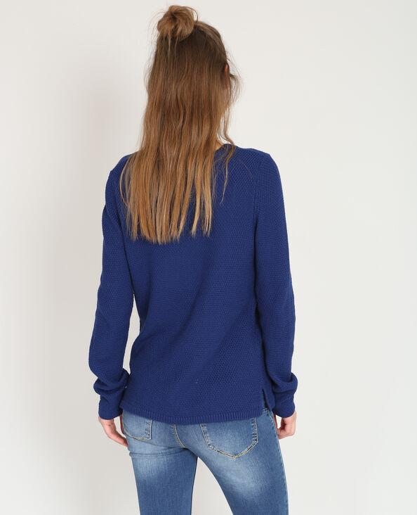 Trui in origineel tricot donkerblauw