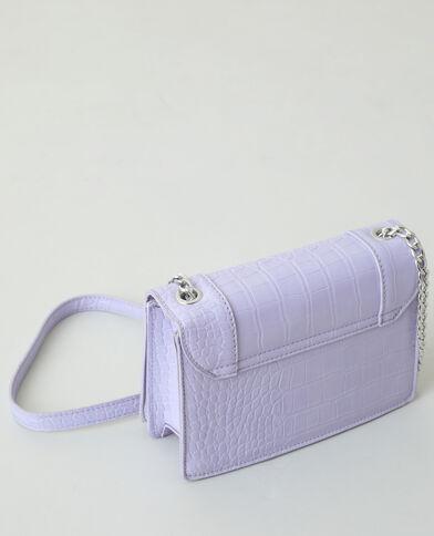 Boxy tasje in krokostijl violet - Pimkie