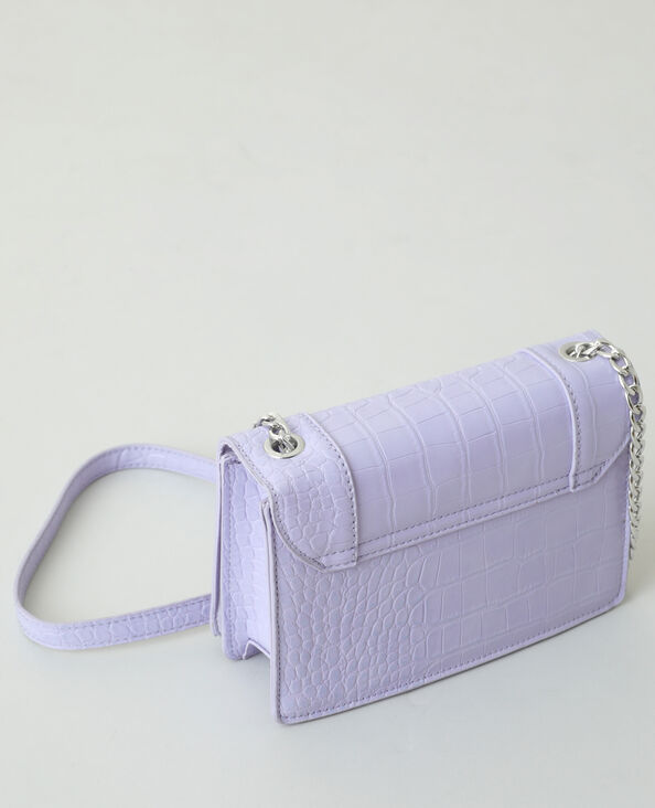 Sac boxy effet croco violet