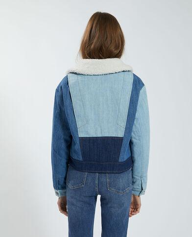 Driekleurig gewatteerd jeansvestje blauw - Pimkie
