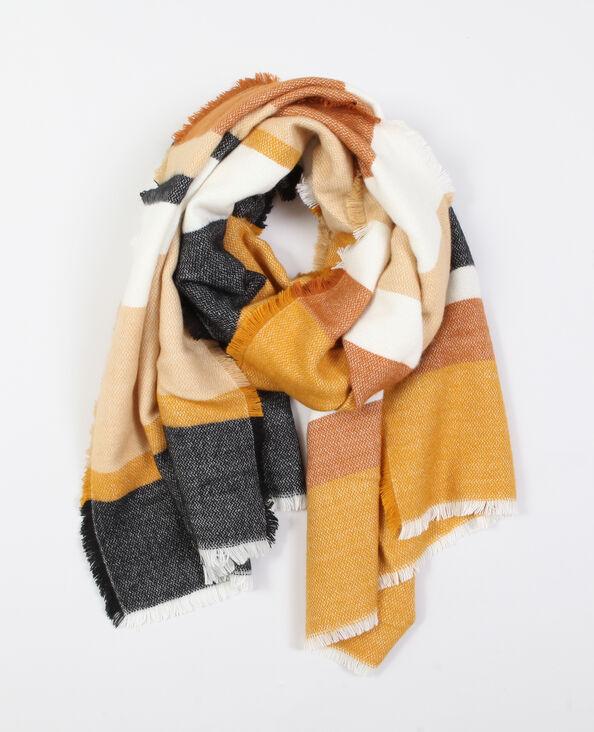 Gestreepte sjaal geel