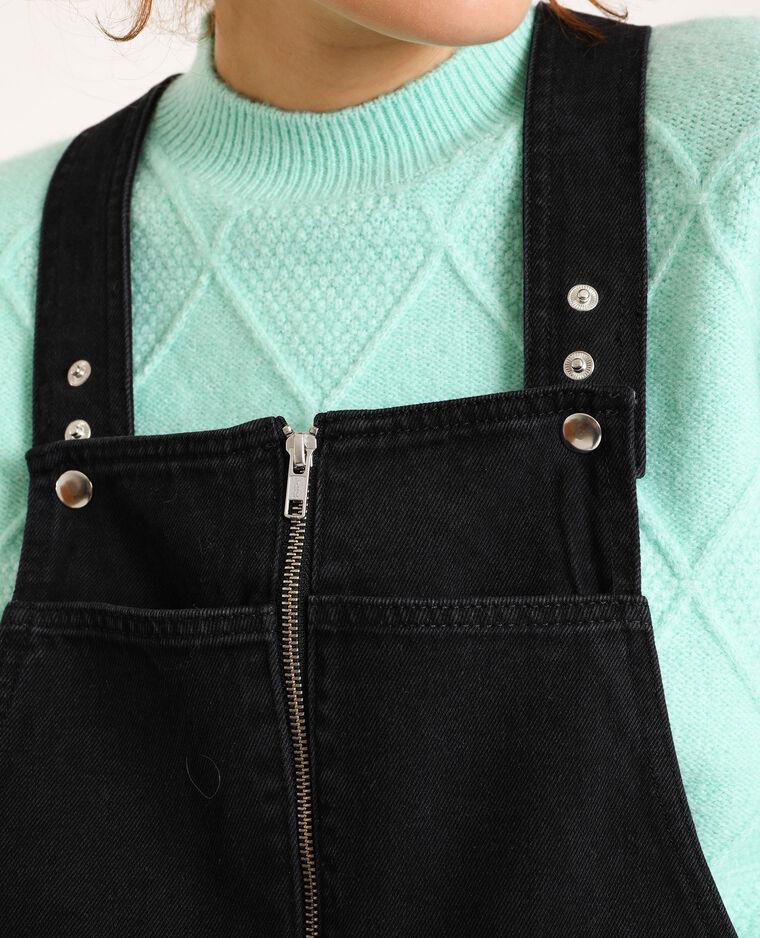 Robe salopette en jean gris foncé