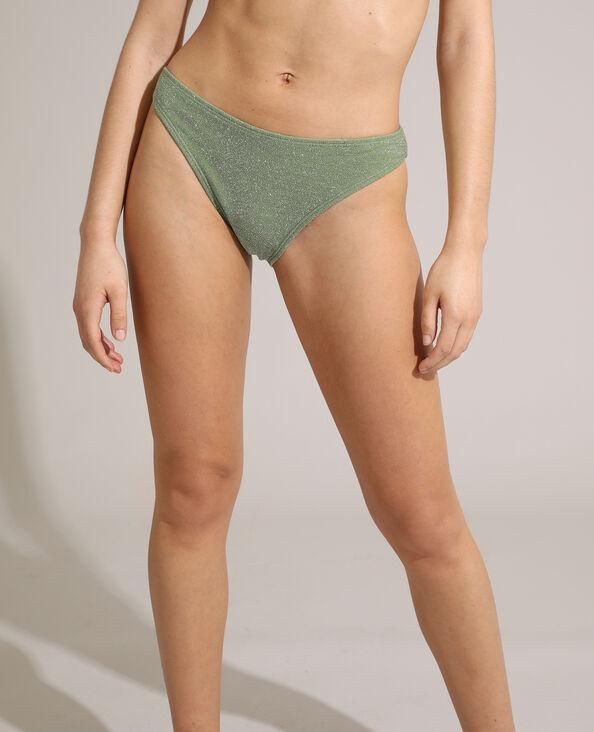 Bas de maillot culotte pailleté vert - Pimkie
