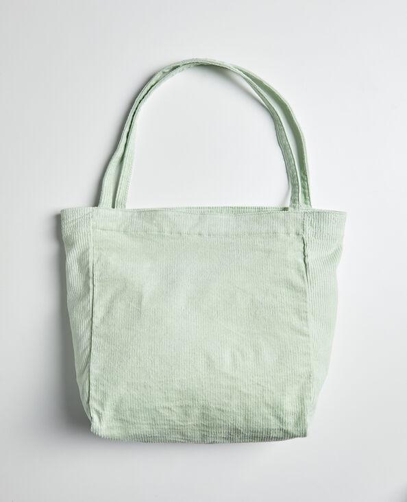 Totebag en velours vert