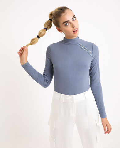 Sous-pull col montant gris