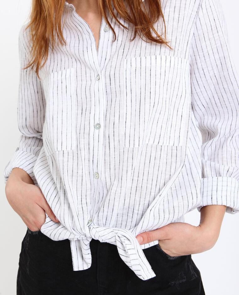 Hemd met strepen gebroken wit