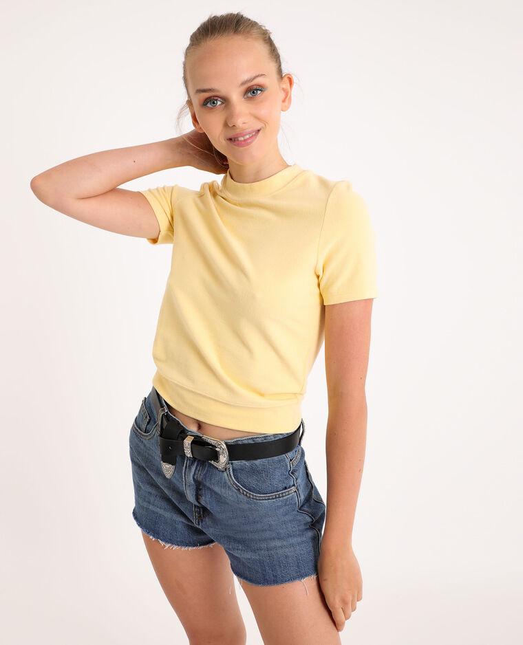 T-shirt doux jaune