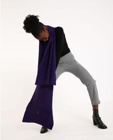 Lange sjaal violet
