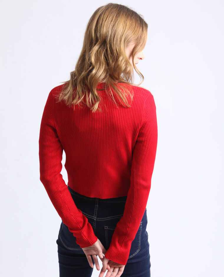 Gilet court rouge