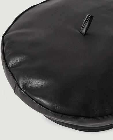 Kunstleren baret zwart - Pimkie