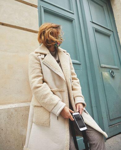Manteau faux cuir blanc