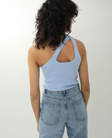 Top one shoulder bleu ciel - Pimkie