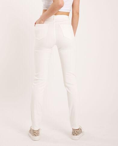 Skinny jeans met stras wit
